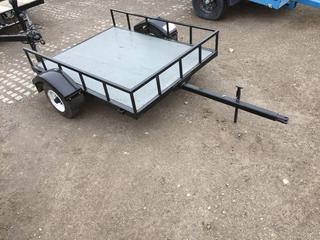 4'x5' S/A Pin Hitch Trailer c/w 4.80-8 Tires. No Serial Number.
