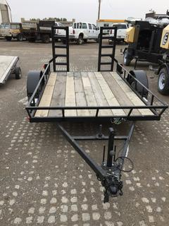 6'x9' S/A Ball Hitch Deck Trailer c/w ST205/75R15. No Serial Number