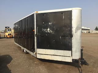 Peak Manufacturing Inc. 8'x25' T/A Ball Hitch Enclosed Trailer c/w ST205/75R14 Tires.