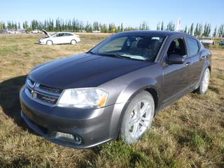 *SELLING OFFSITE COALDALE, AB* 2014 Dodge Avenger SXT  c/w 2.4L 4 Cyl, Auto, AC, Tilt, Cruise, Pwr Locks, Mirrors and Trunk, Sunroof, Bluetooth. Showing 234,330 Kms.  S/N 1C3CDZCB2EN232312.