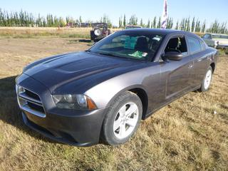 *SELLING OFFSITE COALDALE, AB* 2014 Dodge Charger c/w 3.6L V6, 5 Spd Auto, AC, Tilt, Cruise, Pwr Windows, Locks, Mirrors, Seat & Trunk. Showing 129,885 Kms.     S/N 2C3CDXBG0EH126306.