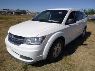 *SELLING OFFSITE COALDALE, AB* 2012 Dodge Journey c/w 2.4L 4 Cyl, Auto, AC, Tilt, Cruise, Pwr Windows, Locks & Mirrors, Push Button Start. Showing 212,409 Kms.  S/N 3C4PDCABXCT336797.