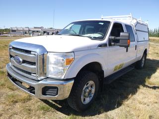 *SELLING OFFSITE COALDALE, AB* 2012 Ford F350 XLT 4x4 c/w 6.2L V8, 6 Spd Auto, AC, Tilt, Cruise, Pwr Windows, Locks & Mirrors, Dual Batteries, Leer Work Topper, Highway Products Sliding Box Tray, CVIP Valid Until Dec 31,2020. Showing 300,653 Kms.  S/N 1FT8W3B61CEC43263.