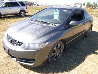*SELLING OFFSITE COALDALE, AB* 2009 Honda Civic EX-L c/w 1.8L 4 Cyl, Auto, AC, Tilt, Cruise, Pwr Windows, Locks, Mirrors & Sunroof, Heated Leather. Showing 223,231 Kms.  S/N 2HGFG12039H007642.