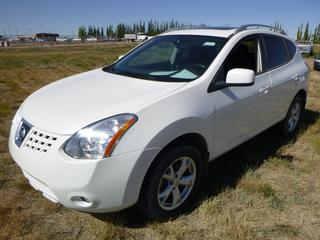 *SELLING OFFSITE COALDALE, AB* 2009 Nissan Rogue AWD c/w 2.5L 4 Cyl, Auto, AC, Tilt, Cruise, Pwr Windows, Locks, Sunroof & Mirrors, Heated Seats, Paddle Shifters. Showing 313,019 Kms.  S/N JN8AS58V39W187759.