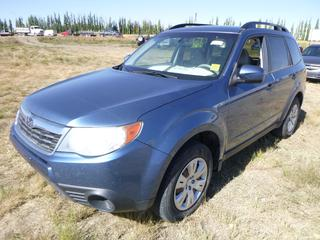 *SELLING OFFSITE COALDALE, AB* 2009 Subaru Forester AWD c/w 2.5L 4 Cyl, Auto, AC, Tilt, Cruise, Pwr Windows, Locks, Hatch & Mirrors, Heated Seats. Showing 273,453 Kms.  S/N JF2SH62679H718263.