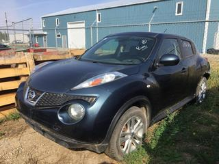 Selling Off-Site - 527 North 200 East, Raymond, AB -  2011 Nissan Juke SUV c/w Auto Trans, S/N JN8F5MV5BT022412. Note:  Unknown Kms, Body Damage.
