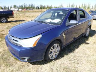 *SELLING OFFSITE COALDALE, AB* 2008 Ford Focus SES c/w 2.0L 4 Cyl, Auto, AC, Tilt, Cruise, Pwr Windows, Locks, Sunroof, Trunk & Mirrors, Traction Control, Bluetooth. Showing 235,319 Kms. S/N 1FAHP35NX8W167873.