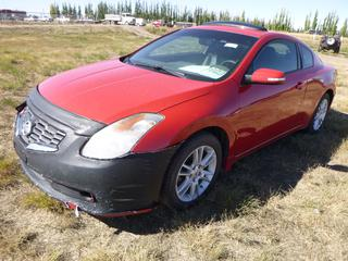 *SELLING OFFSITE COALDALE, AB* 2008 Nissan Altima 3.5 SE c/w 3.5L V6, 6 Spd Manual, AC, Tilt, Cruise, Pwr Windows, Locks, Sunroof & Mirrors, Heated Seats, Push Button Start. Showing 353,840 Kms.  S/N  1N4BL24E98C129050.