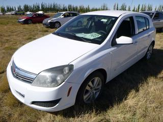 *SELLING OFFSITE COALDALE, AB* 2008 Saturn Astra c/w 1.8L 4 Cyl, Auto, AC, Tilt, Cruise, Pwr Windows, Locks, Sunroof & Mirrors, Heated Seats, Paddle Shifters. Showing 313,019 Kms.  S/N W08AR671385094782.