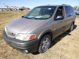 *SELLING OFFSITE COALDALE, AB* 2004 Pontiac Montana c/w 3.4L V6, Auto, AC, Tilt, Cruise, Pwr Windows, Locks, & Mirrors. Showing 232,510 Kms.  S/N 1GMDU03E44D181403.
