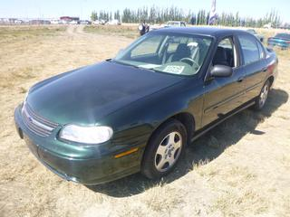 *SELLING OFFSITE COALDALE, AB* 2002 Chevrolet Malibu c/w 3.1L V6, Auto, AC, Tilt, Cruise, Pwr Windows, Locks, Trunk & Mirrors. Showing 225,543 Kms. S/N 1G1ND52J32M714304.