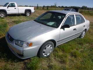 *SELLING OFFSITE COALDALE, AB* 2002 Toyota Corolla CE c/w 1.8L 4 Cyl, Auto, AC, Tilt, Cruise, Pwr Windows, Locks.  *Salvage Title*  S/N 2J13R12E02C881644.