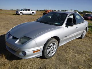 *SELLING OFFSITE COALDALE, AB* 2001 Pontiac Sunfire c/w 2.2L 4 Cyl, Auto, AC, Tilt, Cruise, Pwr Windows, Locks, Traction Control. Showing 181,553 Kms. S/N 1G2JB524217345300.