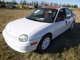 *SELLING OFFSITE COALDALE, AB* 1997 Plymouth Neon c/w 2.0L 4 Cyl, Auto, AC, Tilt, Cruise. Showing 105,013 Kms. S/N 1P3ES47C5VD156705.