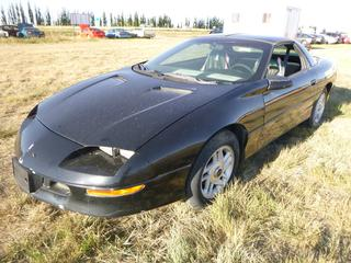 *SELLING OFFSITE COALDALE, AB* 1995 Chevrolet Camaro c/w 3.4L V6, Auto, AC, Tilt, Cruise, Pwr Windows, Locks, Hatch & Mirrors, Zex Nitrous Injection Headers, Dual Exhaust, Cold Air Intake, Custom Tune. Showing 191,084 Kms. S/N 2G1FP22S1S2226560.