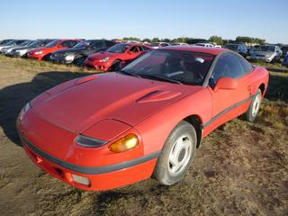 *SELLING OFFSITE COALDALE, AB* 1991 Dodge Stealth c/w 3.0L V6, 5 Spd Manual, AC, Tilt, Pwr Mirrors. Showing 213,102 Kms. S/N JBSXD44S3MY016952.