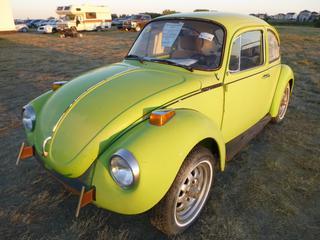 *SELLING OFFSITE COALDALE, AB* 1973 Volkswagen Super Beetle c/w 1600 CC 4 Cyl, 4 Spd Manual. Showing 03.401 Miles. S/N 1332866150.