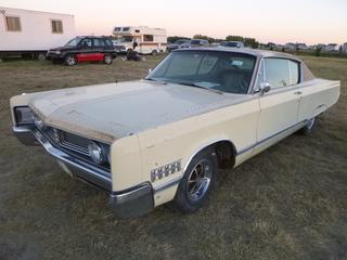 *SELLING OFFSITE COALDALE, AB* 1967 Chrysler Newport Custom c/w 383 V8 (4 Barrel), Auto, Dual Exhaust. Showing 62,088 Miles.  S/N CL23H73261376.