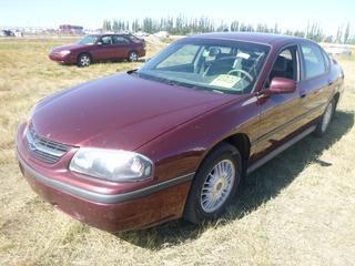 *SELLING OFFSITE COALDALE, AB* 2002 Chevrolet Impala LS c/w 3.8L V6, Auto, AC, Tilt, Cruise, Pwr Windows, Locks, Trunk & Mirrors, Command Start, Traction Control.