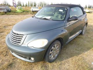 *SELLING OFFSITE COALDALE, AB* 2006 Chrysler PT Cruiser Limited Edition Convertible c/w 2.4L 4 Cyl, Auto, AC, Tilt, Cruise, Pwr Windows, Locks, Seats, Top& Mirrors. Showing 149,605 Kms.  S/N 3C3JY55X96T306372.