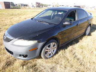 *SELLING OFFSITE COALDALE, AB* 2006 Mazda 6 c/w 2.3L 4cyl, Auto, AC, Tilt, Cruise, Pwr Windows, Locks, Seats, Trunk & Mirrors. Showing 298,863 Kms. S/N 1YVFP84C165M12460.