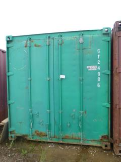 40' Seacan w/ String Lights and Installed Door and Door Frame *NOTE: Minor Hole* **Buyer Responsible for Load Out**