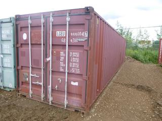 40' Seacan C/w Insulated Covers *NOTE: Minor Dents*  **Buyer Responsible for Load Out**