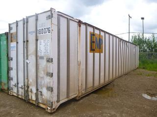 40' Seacan w/ Lights and Outlets Installed, Storage Room *NOTE: Major Holes*  **Buyer Responsible for Load Out**