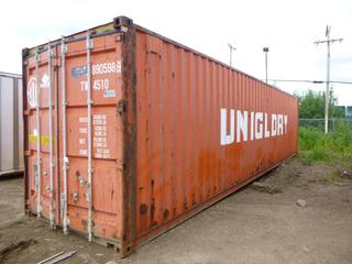 40' Seacan *NOTE: Minor Holes and Dents*  **Buyer Responsible for Load Out**