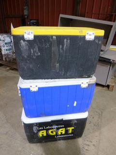 (3) Coleman Coolers, Contents Included
