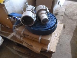 (2) 1.5 x 50' PVC Discharge Assembly, (1) 1.5 x 100' PVC Discharge Assembly w/ 2 Hose Fittings