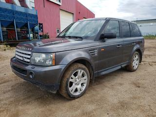 2006 Land Rover Range Rover Sport C/w 4.2L, 8-Cyl, A/T. Showing 215,214kms. VIN SALSH23496A917445 *NOTE: Salvage Title*