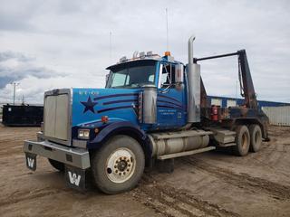 1997 Western Star 4964FX Truck Tractor C/w Cummins N14 Plus 12.8L Diesel, 6-Cyl, 10 Speed Rockwell, GVWR 23,586 KG, A/C, PTO, Beacons, 11R24.6 Tires. Showing 424,715KMS  35,117 Hours. VIN 2WKPDDJH8VK945770