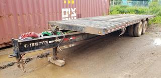 1999 30ft Trailtech Tandem Axle Tilt Deck Trailer C/w 24ft Tilt Deck, Air Brakes, Pintle Hitch. VIN 2CUDCLXN4X2005268