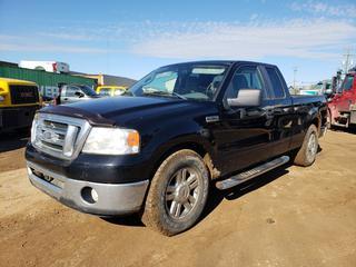 2007 Ford F150 XLT Pick Up C/w 5.4L Triton, A/T, A/C, 275/70R18 Tires At 80%. Showing 312,741KMS. VIN 1FTPX12V67FB46239