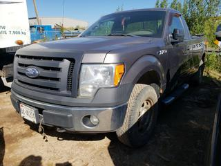2011 Ford F150 4X4 Pick Up C/w 3.7L V6, A/T. VIN 1FTMF1EM1BKD45725 *NOTE: Running Condition Unknown, No Key*