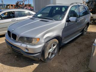 2003 BMW X5 C/w 3.0L, 6-Cyl. VIN 5UXFA53543LV73822 *NOTE: Not Able To Open Hood (Info As Per Owner) Running Condition Unknown*