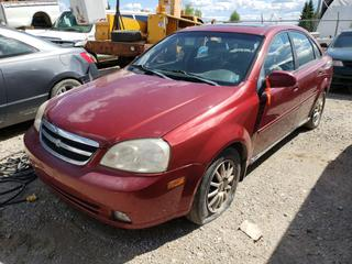 2004 Chevrolet Optra c/w 2.0L, 4-Cyl, A/T, A/C. VIN KL1JK52Z74K930924 *NOTE: Running Condition Unknown*