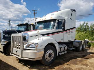 2007 Columbia Freightliner Truck Tractor C/w Mercedes-Benz MB400 Eng 12.8L Diesel, 6-Cyl. Showing 1,237,832 Kms. VIN 1FUJA6CVX7LX18698