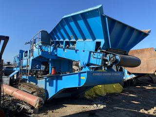2008 RB-06 Terex Pegson 1000MXT Crawler Cone Crusher C/w  Caterpillar C9, 275 hp, Hopper fdr, 24 in. Side Disch Folding Conv, 42 in. Under Crusher Disch Conv, Remote Ctrl. Showing 4900hrs, 3567 Crusher Hours, SN 100791FK *Updated Photos*