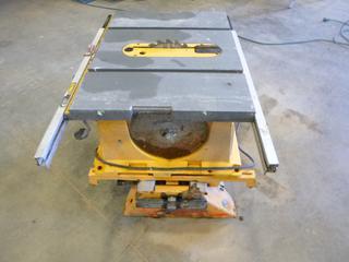"""Dewalt Portable Table Saw, C/w 10"""" Blade (E5-11)"""