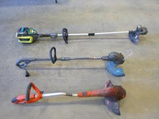 (2) Electric String Trimmers, (1)  Cordless Weed Eater * Note No Battery*  Working Condition Unknown