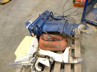 (2) Boat Motors * Working Condition Unknown*, Fuel Tank, (WR-5)
