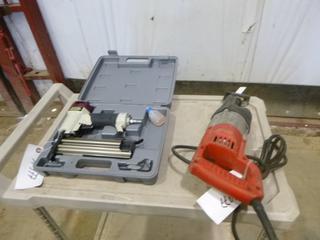 (1) Milwaukee Reciprocating Saw And (1) Tool Shop Brad Nailer (G2)