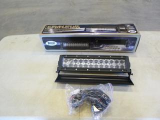 "(1) Trux 15"" Double Row LED Light Bar w/ Cover (Unused) (G1)"