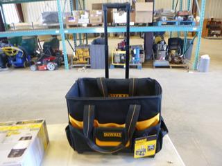 (2) Defiant 200 Lumen LED Lanterns w/ Bluetooth, (1) Dewalt Tool Bag w/ Telescopic Handle (G1)