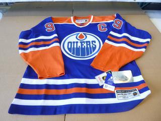 Wayne Gretzky Edmonton Oilers Jersey, Size 46, New w/ Tags (E4-3,1)