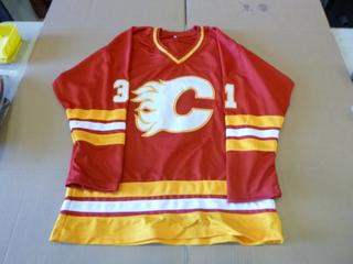 Rejean Lemelin Signed Calgary Flames Jersey, C.O.A. From James Spence Authentications, LLC