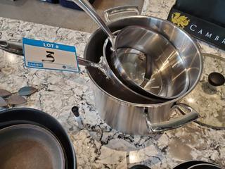 Lot 3 Thermalloy Pots ( 12L, 6L & 3.5L)